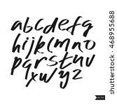 alphabet letters.black... | Shutterstock .eps vector #468955688