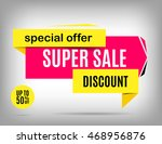 sale banner design. discount... | Shutterstock .eps vector #468956876