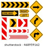 right turn. road sign with... | Shutterstock .eps vector #468959162