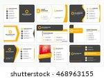 set of modern business card...   Shutterstock .eps vector #468963155