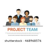 flat illustration of project... | Shutterstock .eps vector #468968576