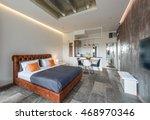 interior of exclusive bedroom... | Shutterstock . vector #468970346