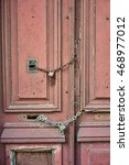 vintage door with homemade... | Shutterstock . vector #468977012
