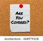 the words are you covered ... | Shutterstock . vector #468979328