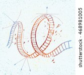 vector illustration of doodle... | Shutterstock .eps vector #468981005