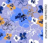 vector floral watercolor... | Shutterstock .eps vector #468983582