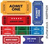 vector set  tickets in...   Shutterstock .eps vector #46899604
