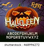 Halloween Font Letters  Poster...