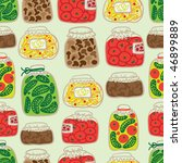 seamless pattern with banks | Shutterstock .eps vector #46899889