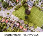 aerial view of dutch town ... | Shutterstock . vector #468999965