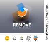 remove color icon  vector...
