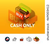 cash only color icon  vector...