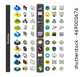 set of icons in different style ... | Shutterstock .eps vector #469003676