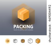 packing color icon  vector...
