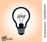 light lamp sign icon. idea... | Shutterstock .eps vector #469006595