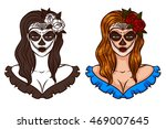 mexican day of the dead. vector ... | Shutterstock .eps vector #469007645