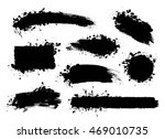 vector set of grunge artistic... | Shutterstock .eps vector #469010735