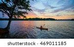 Female Kayaker On Lake Keowee...