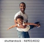 handsome young afro american... | Shutterstock . vector #469014032