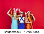 young nice girls have fun on a... | Shutterstock . vector #469014356