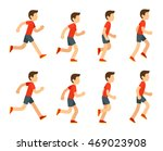 running man animation sprite... | Shutterstock .eps vector #469023908