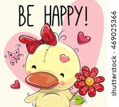Be Happy Greeting Card Cute...