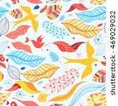 graphic pattern of birds autumn ... | Shutterstock .eps vector #469029032