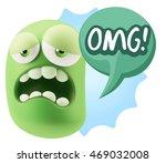 3d rendering sad character... | Shutterstock . vector #469032008