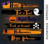 happy halloween calligraphy.... | Shutterstock .eps vector #469042262
