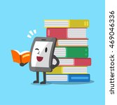 cartoon smartphone character... | Shutterstock .eps vector #469046336