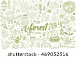 vector forest elements in... | Shutterstock .eps vector #469052516