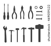 vector icons of different tools ... | Shutterstock .eps vector #469059122