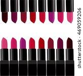vector set of lipsticks trendy... | Shutterstock .eps vector #469059206