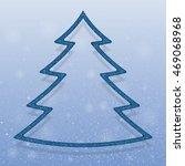 falling snow vector. winter... | Shutterstock .eps vector #469068968