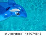 inflatable dolphin in a clear... | Shutterstock . vector #469074848