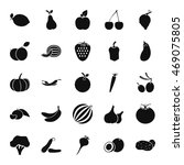 fruit symbols simple icon set... | Shutterstock .eps vector #469075805