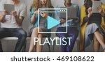 media audio player blog concept   Shutterstock . vector #469108622