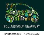 car symbol formed of globe ... | Shutterstock .eps vector #469110632