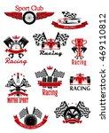 motorsport symbols framed by... | Shutterstock .eps vector #469110812