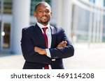 smiling african businessman... | Shutterstock . vector #469114208