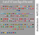 a set of icons with flags of... | Shutterstock .eps vector #469115132