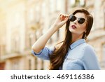outdoor portrait of a young... | Shutterstock . vector #469116386