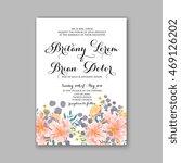 beautiful wedding floral vector ... | Shutterstock .eps vector #469126202