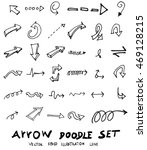 vector hand drawn arrows set | Shutterstock .eps vector #469128215