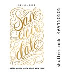 save our date invitation... | Shutterstock .eps vector #469150505