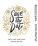 save the date printable with... | Shutterstock .eps vector #469150508