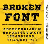 Black Font From The Broken Int...