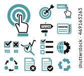 audit survey icon set | Shutterstock .eps vector #469165265