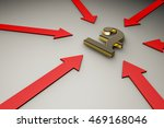 red arrows point to pound | Shutterstock . vector #469168046
