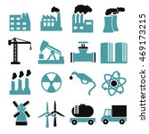 building factory icon set | Shutterstock .eps vector #469173215
